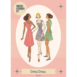 Sew Over It Doris Dress - Downloadable PDF, Size UK 8-20