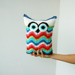 Owl chevron zig zag toy pillow
