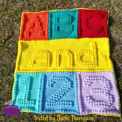 ABC and 123 Bobble Baby Afghan