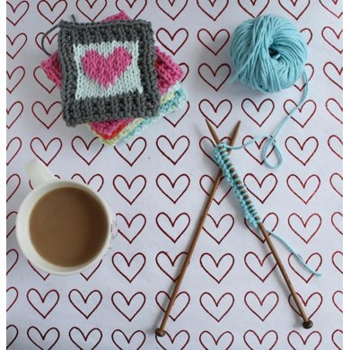 Cotton Heart blanket squares