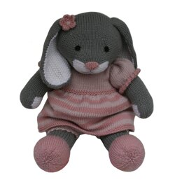 Pink Stripy Dress Outfit (Knit a Teddy)