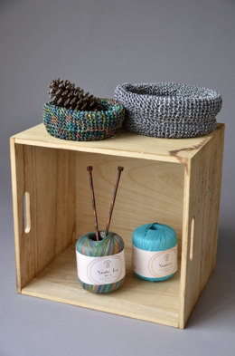 Garter Baskets in Universal Yarn Yashi & Yashi Iro - Downloadable PDF