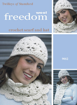 Crochet Hat and Scarf in Twilleys Freedom Wool _ 9012