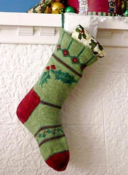 Holly Christmas Stocking