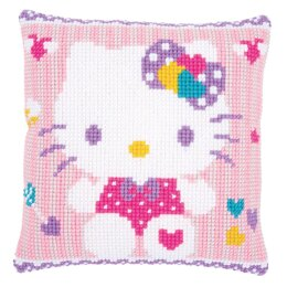 Vervaco Hello Kitty Pastel Cross Stitch Cushion Kit