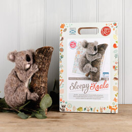 The Crafty Kit Company Sleepy Koala Needle Felting Kit - 190 x 290 x 94mm