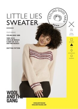 Little Lies Sweater in Wool and the Gang Feeling Good Yarn - V135815558 - Leaflet