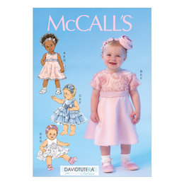 McCall's Infants' Dresses, Panties and Headbands M7037 - Sewing Pattern