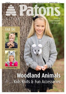 Woodland Animals Kids Knits and Fun Accessories in Patons Fab DK