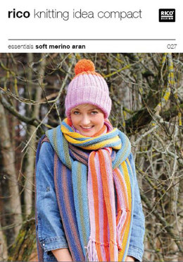 Cap and Scarf in Rico Essentials Soft Merino Aran - 027