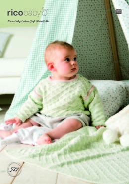 Blanket and Cardigan in Rico Baby Cotton Soft (Print) DK - 527 - Leaflet