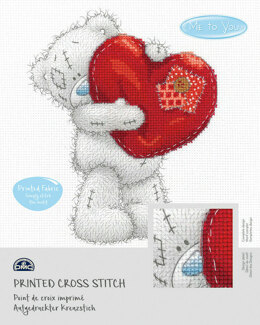 DMC Me To You - Tatty Teddy & Tiny Tatty Teddy - Heart (printed fabric) - 14cm x 18cm