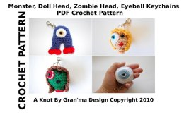 Monstrous Monsters Keychains or Ornaments