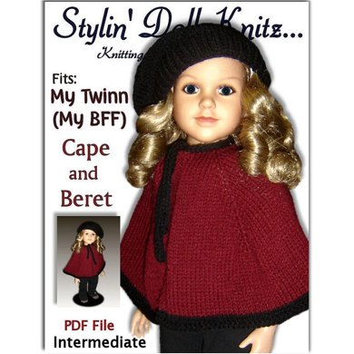Cape and Beret for My Twinn Doll, 23 inch (My BFF)