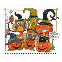 "Imaginating Counted Cross Stitch Kit 9"" X7.5"" Boo Friends (14 Count)"