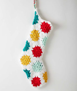 On The Dot Stocking in Caron Simply Soft - Downloadable PDF