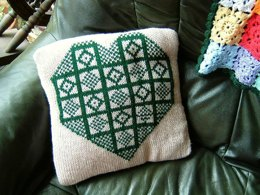 Sanquhar style cushion cover
