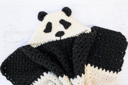 """Panda Bear Hug"" Hooded Blanket"