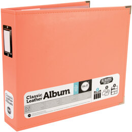 "We R Memory Keepers We R Classic Leather D-Ring Album 12""X12"" - Coral"