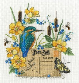 DMC Kingfisher 14 Count Cross Stitch Kit - 22.5cm x 22.5cm