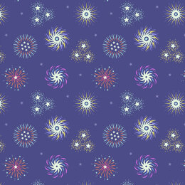 Lewis and Irene Small Things Glow - Fireworks On Blue
