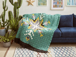 Geo Folk C2C Malachite Crochet Afghan in Bernat Blanket - Downloadable PDF