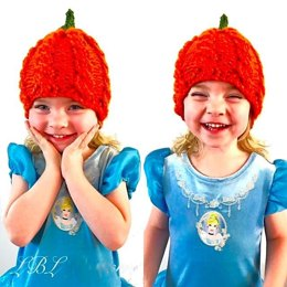 Chunky Cable Pumpkin Hat