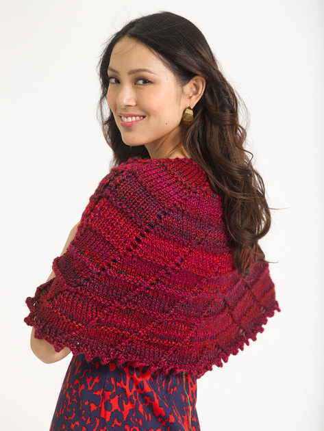 Book Cover Pattern Wool Cashmere Poncho : Half circle shawl in lion brand unique l knitting