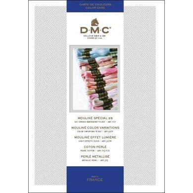 DMC Stranded Cotton Shade Card with Swatches 2017
