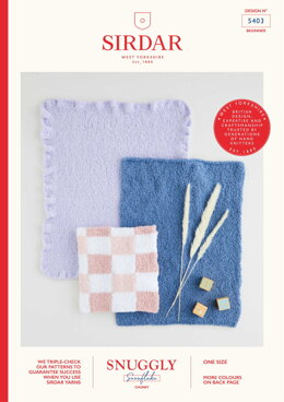 Blankets in Sirdar Snuggly Snowflake Chunky 50g - 5403 - Leaflet