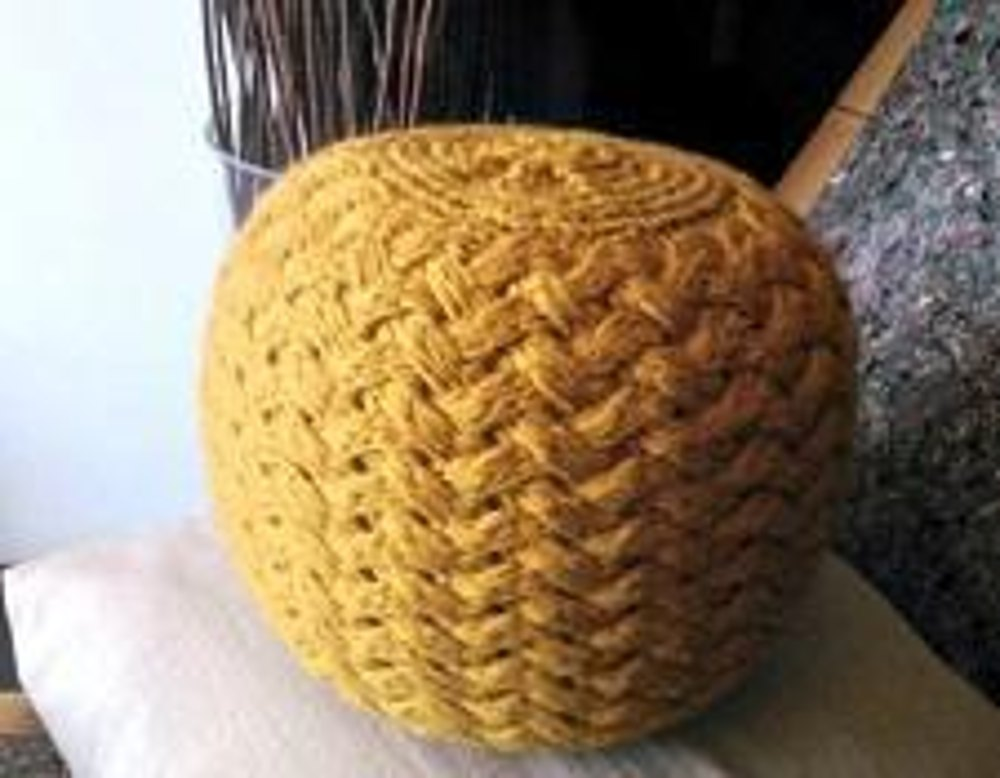 Knitted Pouf Pattern Poof Knitting Ottoman Footstool