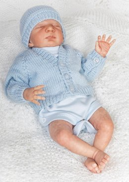 Premature Baby 10 inch Cardi and Hat