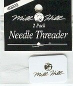 Mill Hill Needle Threader, Two Small Eye Needle Threaders
