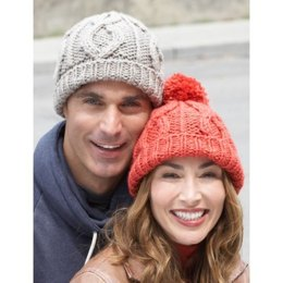 Cable Hat in Bernat Softee Chunky