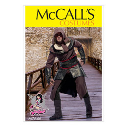 McCall's Men's Tunic, Top, Capelet, Belt, and Gauntlets Costume M7646 - Sewing Pattern