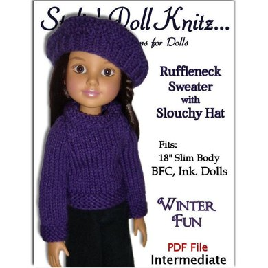 Fits BFC, Ink Doll. Sweater and Slouchy Hat PDF 704