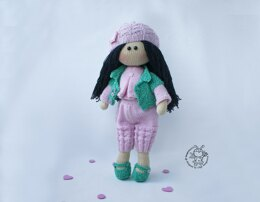 Jessica doll knitted flat
