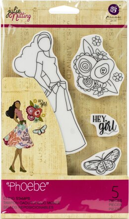 Prima Marketing Julie Nutting Mixed Media Cling Rubber Stamp - Phoebe