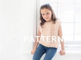 Mini Always Summer Top in Loopy Mango Big Cotton - Downloadable PDF