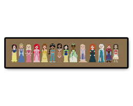 Storybook Princesses Ball Gown - PDF Cross Stitch Pattern