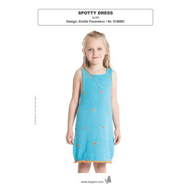 Spotty Dress in BC Garn Alba - 5106BC - Downloadable PDF