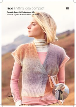 Women's Scarf and Waistcoat in Rico Essentials Super Kid Mohair Loves Silk  - 1061 - Downloadable PDF