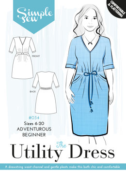 Simple Sew Patterns The Utility Dress #034 - Sewing Pattern