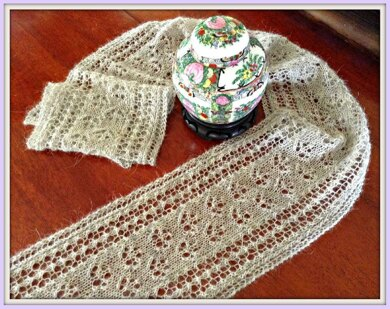 Blossoms and Vines Lace Scarf