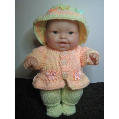 "8"" Berenguer Doll Frill Jacket Set"