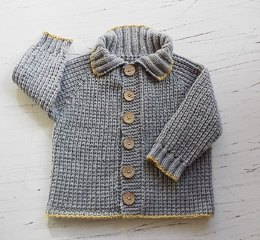 Baby/toddlers seamless top down Fisherman's Rib Jacket