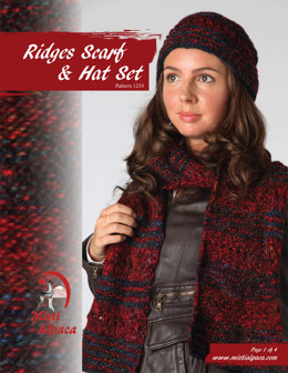 Ridges Scarf & Hat Set in Misti Alpaca Ayllu Overdye Aran - 1233 - Downloadable PDF