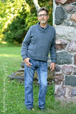 Midwestern Warmth Men's Cabled Sweater