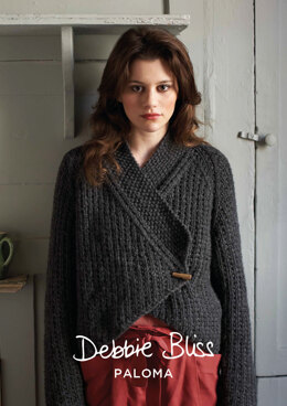 Gia Cardigan in Debbie Bliss Paloma - DBS011 - Downloadable PDF