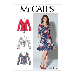 McCall's Misses' Tops and Dress M7812 - Sewing Pattern